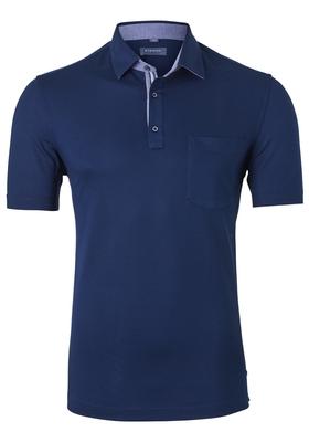 Eterna Comfort Fit poloshirt, donkerblauw (contrast)
