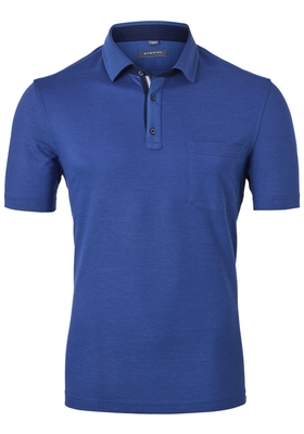 Eterna Comfort Fit poloshirt, midden blauw (contrast)