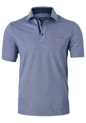 Eterna Comfort Fit poloshirt, blauw melange (contrast)