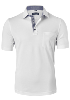 Eterna Comfort Fit poloshirt, wit (contrast)