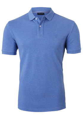 Profuomo Slim Fit polo, royal blauw