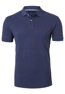Profuomo Slim Fit polo, jeans blauw melange