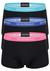 Armani Trunks (3-pack), zwart, met gekleurde band