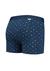 A-dam boxershort Ben, blauw gestipt