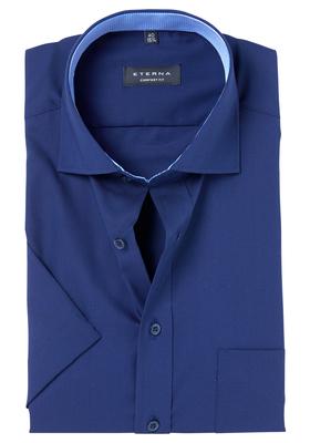 ETERNA Comfort Fit, korte mouw, donkerblauw (contrast)