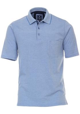 Redmond regular fit poloshirt, midden blauw melange