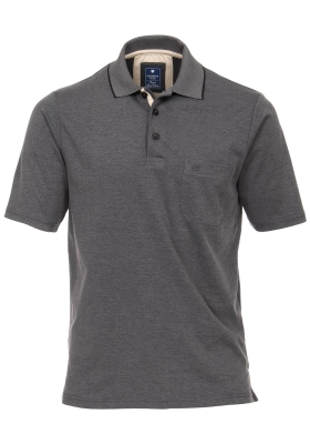 Redmond Regular Fit poloshirt, antraciet melange