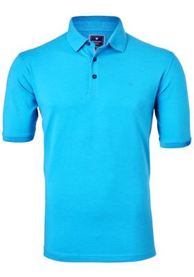Redmond Regular Fit stretch poloshirt, lichtblauw melange