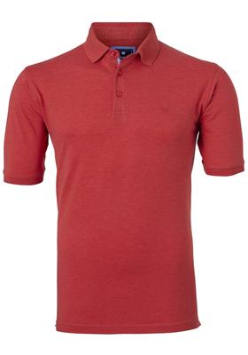 Redmond Regular Fit stretch poloshirt, rood melange