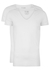 RJ Bodywear Everyday, Tilburg, 2-pack, stretch T-shirt diepe V-hals, wit (raw edge)