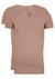 RJ Bodywear Everyday, Tilburg, 2-pack, stretch T-shirt diepe V-hals, huidskleur (raw edge)