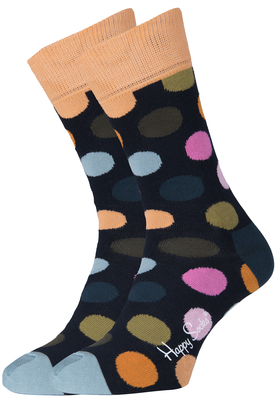 Happy Socks sokken Big Dot Sock donkerblauw met stip