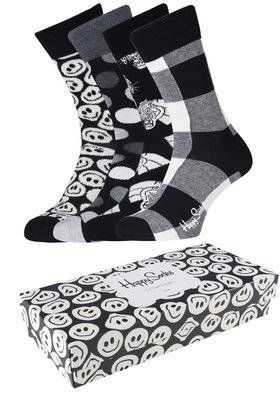 Happy Socks herensokken, Happy Black White Gift Box