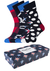 Happy Socks herensokken, Nautical Gift Box in rood-wit-blauw