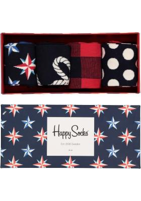 Happy Socks, Nautical Gift Box in rood-wit-blauw