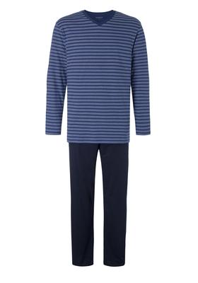 Schiesser heren pyjama, blauw gestreept