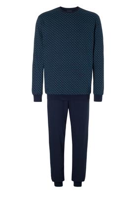 Schiesser heren pyjama, blauw-groen dessin
