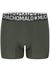 Muchachomalo Light Cotton boxershorts (3-pack), heren boxers normale lengte, blauw, groen en zwart