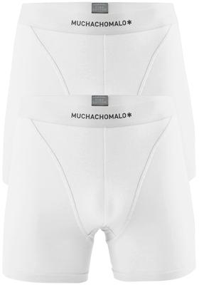 Muchachomalo boxershorts Pima Cotton, 2-pack, wit