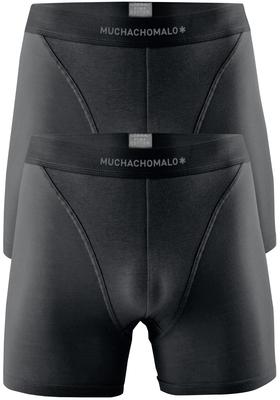 Muchachomalo boxershorts Pima Cotton, 2-pack, zwart