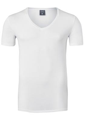 Muchachomalo T-shirt V-hals Pima Cotton, wit