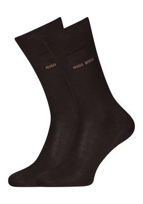 Hugo Boss, George RS uni, herensokken, donker bruin