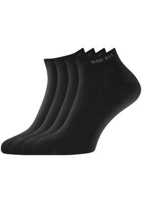 Hugo Boss, 2-pack Sneaker, herensokken, zwarte enkelsokken
