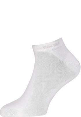 HUGO BOSS enkelsokken (2-pack), heren sneaker sokken katoen, wit