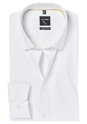OLYMP No. 6 Six, Super Slim Fit overhemd, wit (Dynamic Flex)