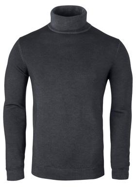 OLYMP Level 5, heren coltrui wol, antraciet grijs (Slim Fit)