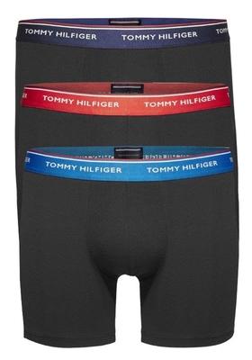 Tommy Hilfiger boxershorts (3-pack - LONG), zwart gekleurde tailleband
