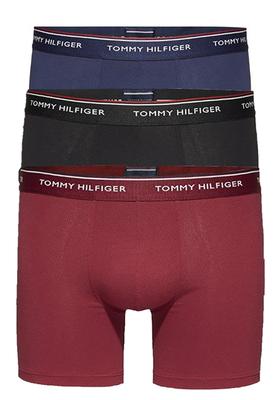 Tommy Hilfiger boxershorts (3-pack), blauw, zwart, granaatrood