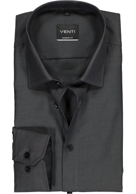 Venti Modern Fit overhemd, antraciet