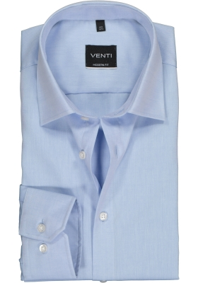 Venti Modern Fit overhemd, mouwlengte 7, licht blauw