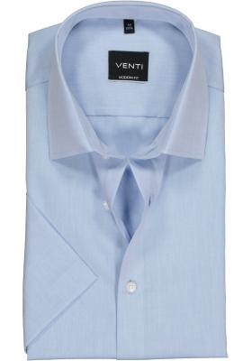 Venti Modern Fit overhemd korte mouw, licht blauw