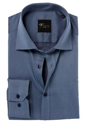 Venti Modern Fit overhemd, grijsblauw twill