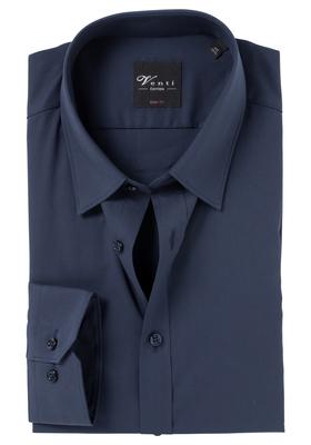 Venti Body Fit overhemd, marine blauw