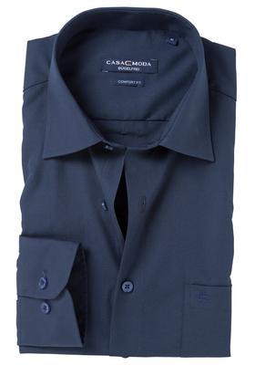 Casa Moda Comfort Fit overhemd, marine blauw (contrast)