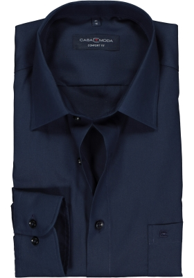 Casa Moda Comfort Fit overhemd, marine blauw