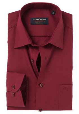 Casa Moda Comfort Fit overhemd, bordeaux rood