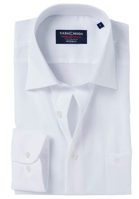 Casa Moda Modern Fit overhemd, mouwlengte 7, wit