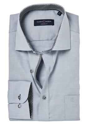 Casa Moda Modern Fit overhemd, grijs structuur (contrast)