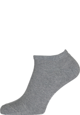 Tommy Hilfiger Sneaker Socks (2-pack), heren enkelsokken katoen, grijs melange