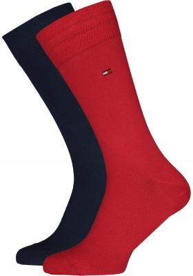 Tommy Hilfiger herensokken (2-pack), rood en blauw