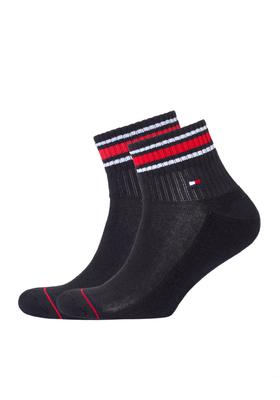 Tommy Hilfiger sneaker sportsokken (2-pack), zwart