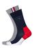 Tommy Hilfiger Iconic Hidden Sock (2-pack), rood-wit-blauwe en grijze sokken