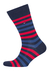 Tommy Hilfiger herensokken (2-pack), duo stripe sock blauw-rood gestreept