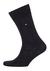 Tommy Hilfiger Duo Stripe Socks (2-pack), herensokken katoen, gestreept en uni, zwart met grijs