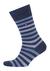 Tommy Hilfiger herensokken (2-pack), duo stripe sock jeans blauw gestreept