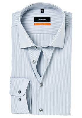Seidensticker Slim Fit overhemd, grijs gestreept (contrast)